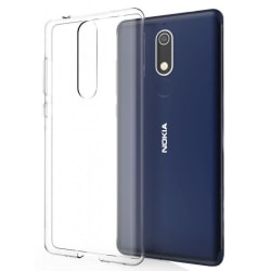 Nokia 5.1 Skal - Genomskinligt Silikonskal Transparent