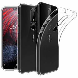 Nokia 6.1 Plus Ultra-Slim Transparent TPU Skal Transparent