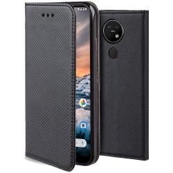 Nokia 8.1 Fodral - Plånboksfodral Svart