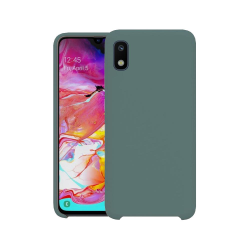 Samsung Galaxy A10 Skal Silicone Slim Case - Gråblå Blå