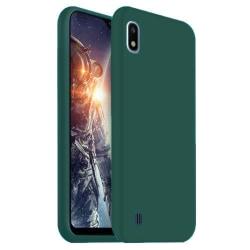 Samsung Galaxy A10 Skal Silicone Slim Case - Grön Grön