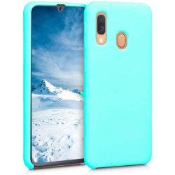 Samsung Galaxy A10 Skal Silicone Slim Case - Mint Grön