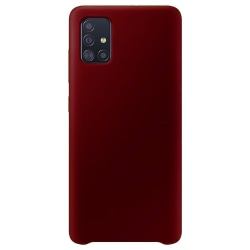 Samsung Galaxy A21s Silicone Case - Burgundy Silikonskal Röd