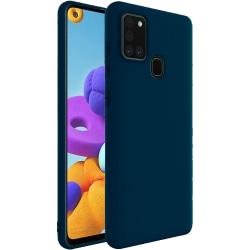 Samsung Galaxy A21s Silicone Case - Mörkblå Silikonskal Blå
