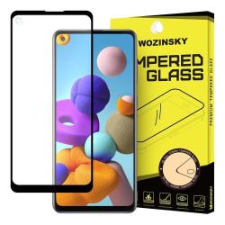 Samsung Galaxy A21s Skärmskydd Heltäckande Härdat Glas Transparent