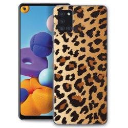 Samsung Galaxy A21s Skin Skydd för baksidan - Leopard Transparent