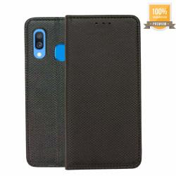 Samsung Galaxy A40 Plånboksfodral (Svart)