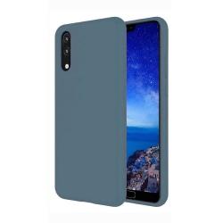 Samsung Galaxy A40 Skal Gråblå Silikonskal Blå