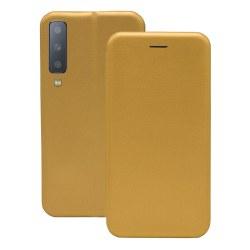 Samsung Galaxy A7 2018 Flip-Cover Fodral - Guld Guld