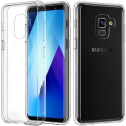 Samsung Galaxy A7 2018 Ultra-Slim Transparent TPU Skal  Svart