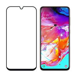 Samsung Galaxy A70 Härdat Glas Heltäckande Skärmskydd Transparent
