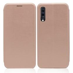 Samsung Galaxy A70 Plånboksfodral Luxery Fodral - Roséguld Rosa guld