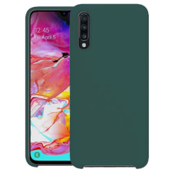 Samsung Galaxy A70  Silicone Case - Grön Silikonskal Svart
