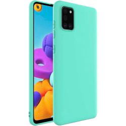 Samsung Galaxy A71 Silicone Case - Mint Silikonskal Grön