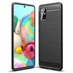 Samsung Galaxy A71 Skal - Exklusivt Stöttåligt Skal Svart