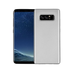 Samsung Galaxy Note 8 Carboon Fiber Case - Silver