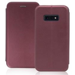 Samsung Galaxy S10E Plånboksfodral Luxery Fodral - Burgundy Red