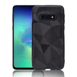 Samsung Galaxy S10E Skal - Trendy Geometric Case - Svart Shiny Svart