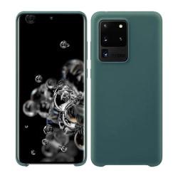 Samsung Galaxy S20 Ultra Silicone Case - Blågrå Silikonskal Grön
