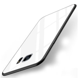 Samsung Galaxy S7 Skal i Härdat Glas - Vit Vit
