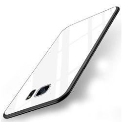 Samsung Galaxy S8 Skal i Härdat Glas - Vit Vit