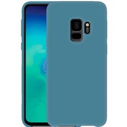 Samsung Galaxy S9 Silikonskal - Liquid Silicone Cover - Gråblå
