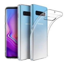Samsung S10 Plus Skal i genomskinligt gummi Transparent