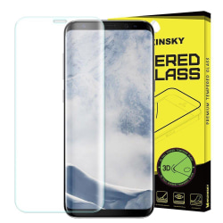 Samsung S9 Härdat Glas l CURVED Transparent