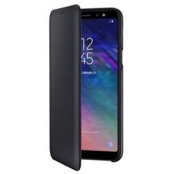 Samsung Wallet Cover för Samsung Galaxy A6 Plus 2018 - Svart