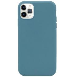 Silikonskal till iPhone 11 Pro Max - Blågrå Grön