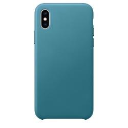 Silikonskal till iPhone XS/X - Blågrå Blå