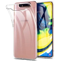 Silikonskal till Samsung Galaxy A80  - Genomskinligt Skal Transparent