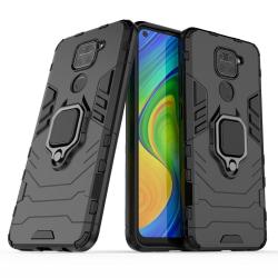 Stöttåligt Skal med Ringhållare Xiaomi Redmi Note 9 Svart