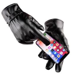 Touch handskar herr Läderhandskar - Svart Skinnhandskar Touch Svart