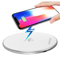 Trådlös Laddare - Samsung / Apple iPhone FAST CHARGE 10W - Vit Vit