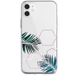 uSync™ iPhone 11 Pro Skal - Design Trendy Leaf Skal Transparent