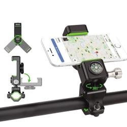 uSync™ Mobilhållare till MC, Moped, Cykel Kompass, LED m.fl. Svart