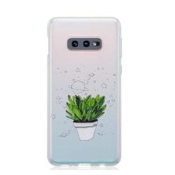uSync™ Samsung Galaxy S10E - Design Skal - Plant Svart