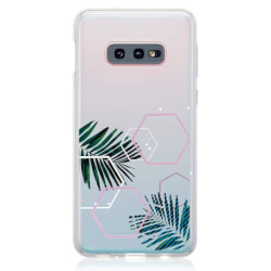uSync™ Samsung Galaxy S10E Skal - Design Trendy Leaf Skal Transparent