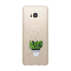 uSync™ Samsung Galaxy S8 - Design Skal - Plant Transparent