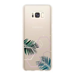 uSync™ Samsung Galaxy S8 Skal - Design Trendy Leaf Skal Transparent
