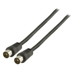 Valueline Antennkabel 2,0 m Svart Black