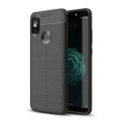 Xiaomi Mi A2 Skal Litchi Läder Svart