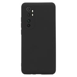 Xiaomi Mi Note 10 Lite Skal Svart Silikonskal  Svart