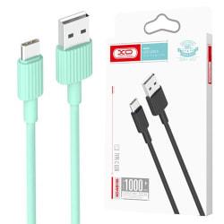 XO® 1m Hållbar USB-C Laddare Samsung/Sony/Huawei/OnePlus  Grön