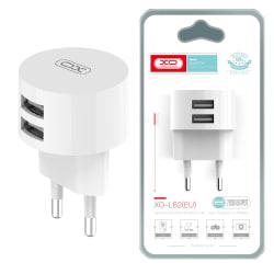 XO™ Väggladdare till iPhone & Android Kompakt design - 2X USB White