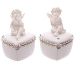 2 st Smyckeskrin - Vita änglar