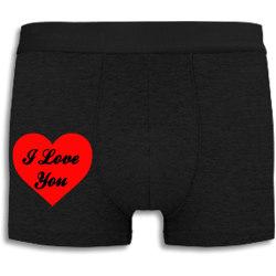 Boxershorts - I Love You svart L