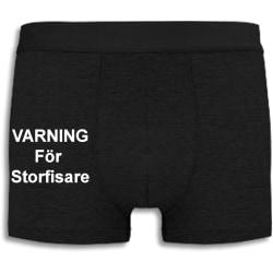 Boxershorts - Varning för storfisare svart XL