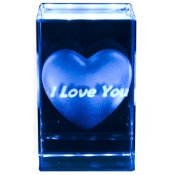 Kristall - Hjärta, I Love You transparent